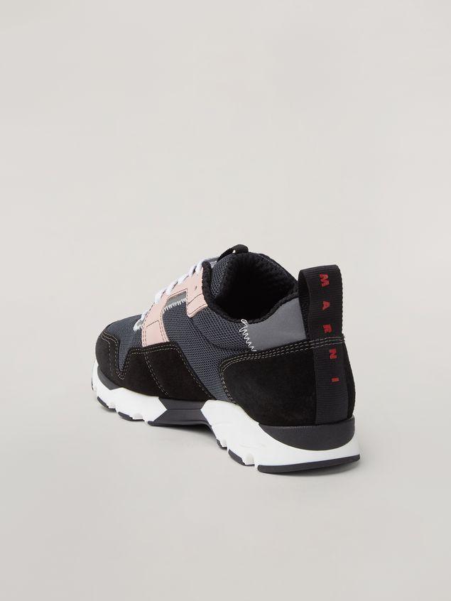Marni Sneaker in techno fabric pink grey and black Woman