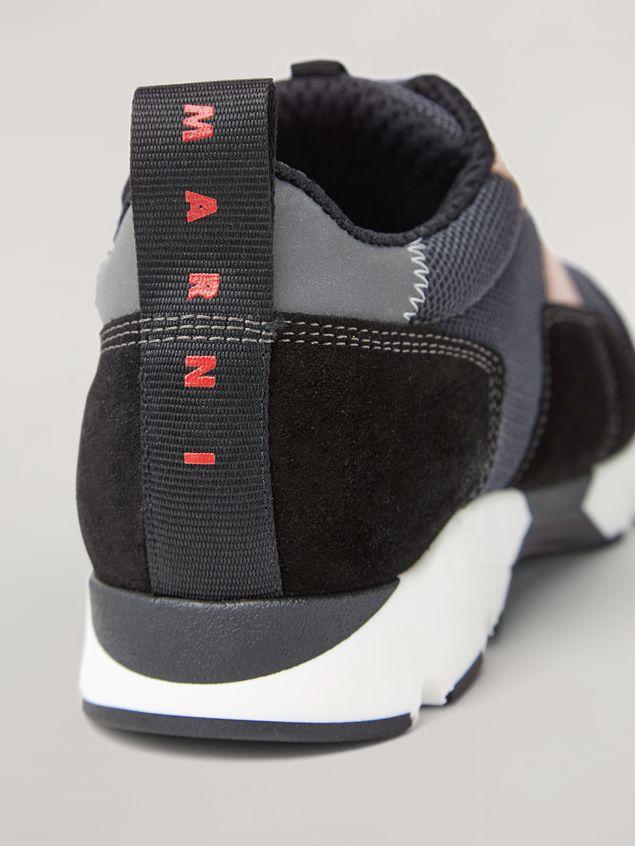 Marni Sneaker in techno fabric pink grey and black Woman - 5