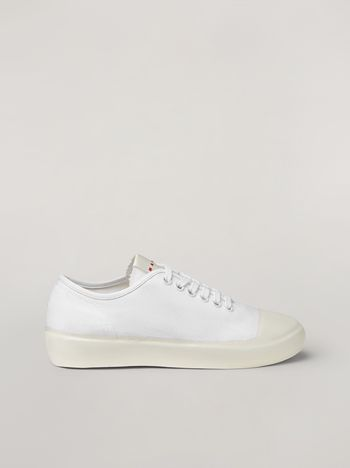 Marni Low-top sneaker in canvas and rubber Woman f