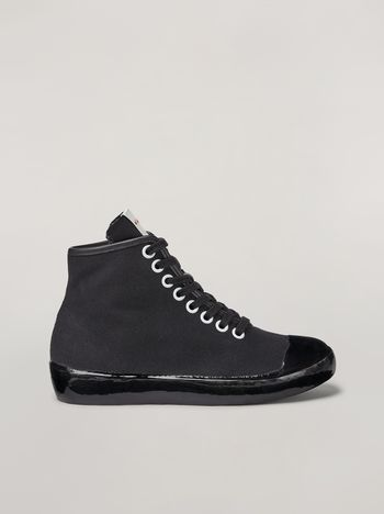 Marni High-top sneaker in canvas and rubber Woman f