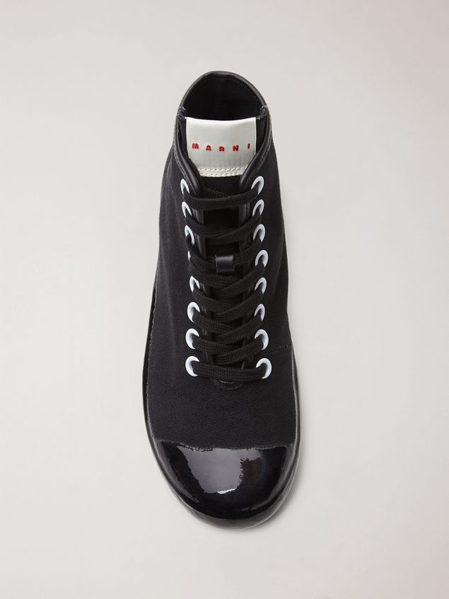 Marni High-top sneaker in canvas and rubber Woman - 4