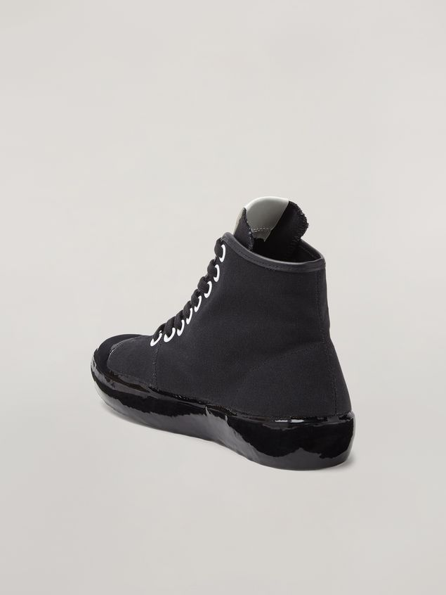 Marni High-top sneaker in canvas and rubber Woman - 3