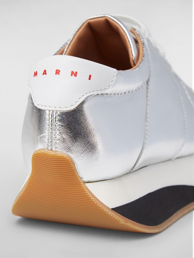 Marni BIGFOOT WANDERING IN STRIPES sneaker in laminated leather Woman - 5