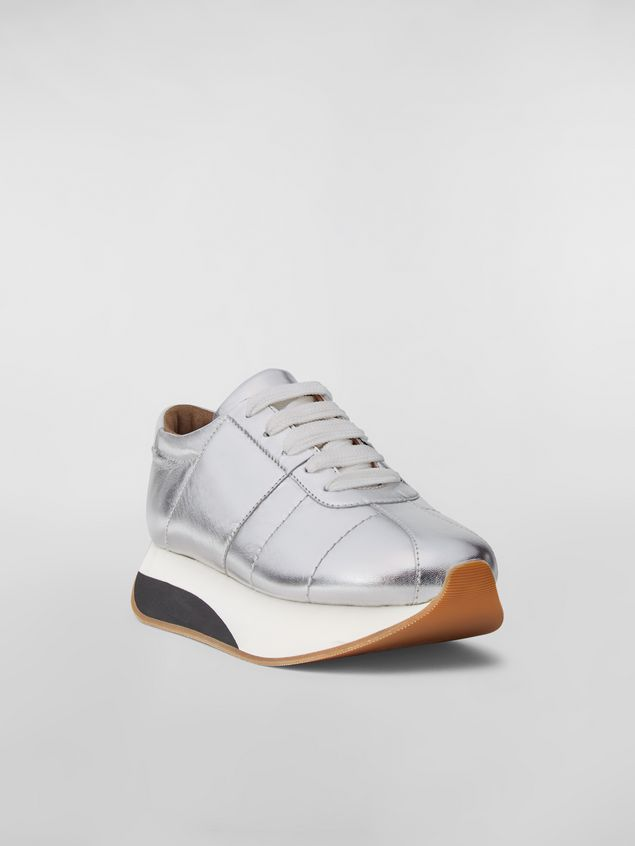 Marni BIGFOOT WANDERING IN STRIPES sneaker in laminated leather Woman - 2
