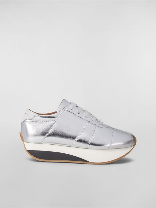 Marni BIGFOOT WANDERING IN STRIPES sneaker in laminated leather Woman - 1