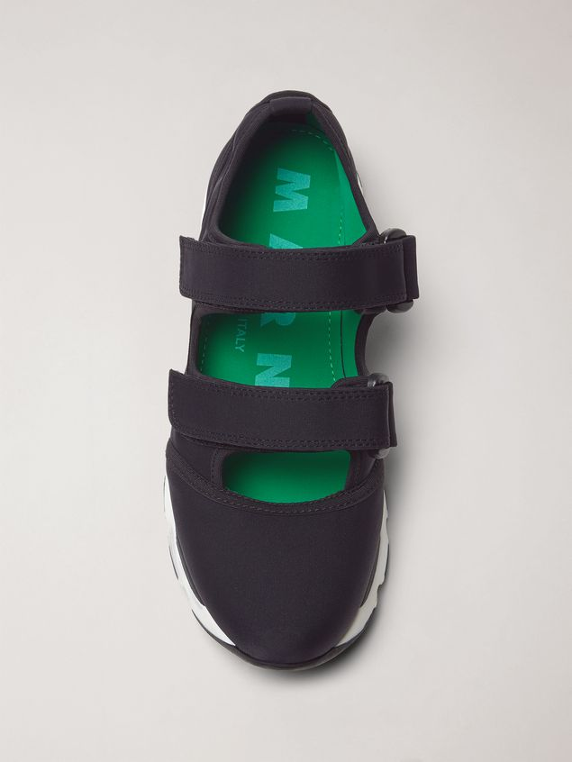 Marni Strap sneaker in techno fabric black Woman - 4