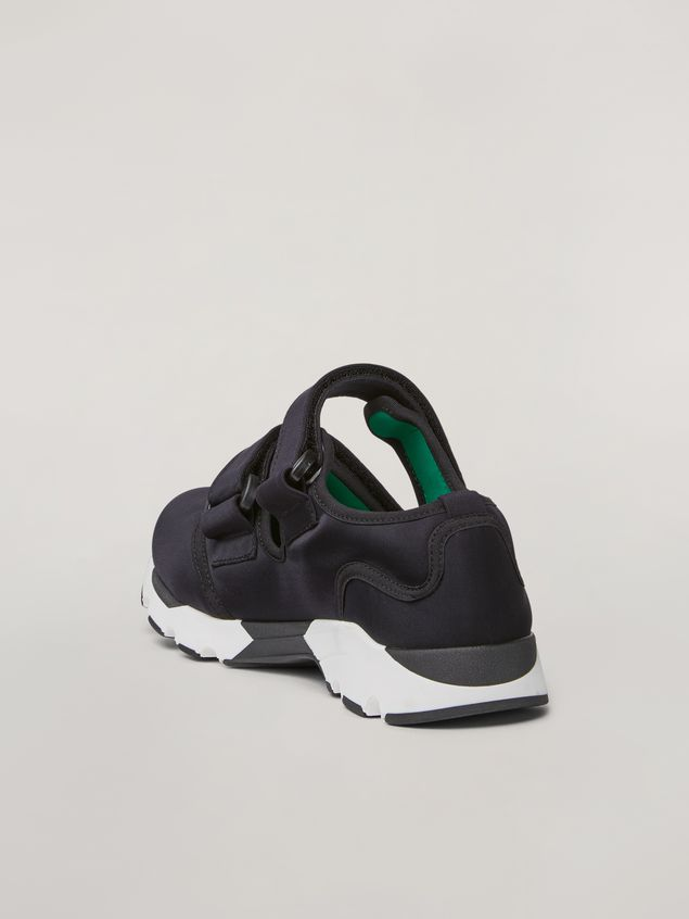 Marni Strap sneaker in techno fabric black Woman - 3