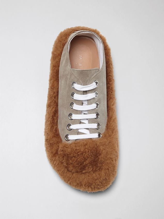 Marni CHINESE NEW YEAR 2020 Lace-up  in bi-coloured shearling Woman - 4