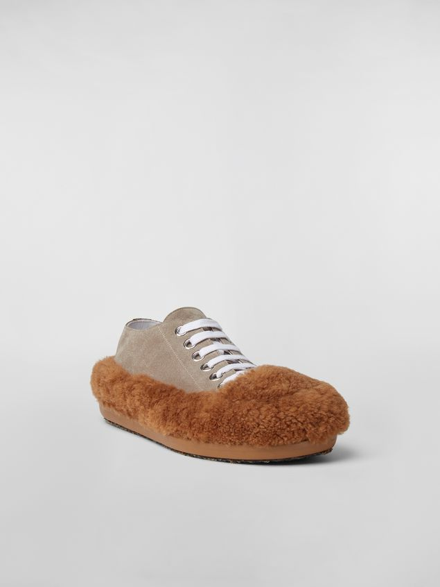 Marni CHINESE NEW YEAR 2020 Lace-up  in bi-coloured shearling Woman - 2