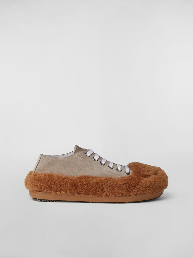 Marni CHINESE NEW YEAR 2020 Lace-up  in bi-coloured shearling Woman - 1