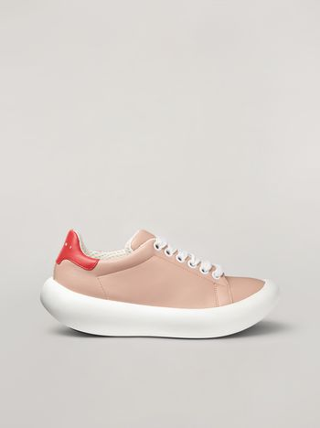 Marni BANANA Marni sneaker in leather pink and red Woman f