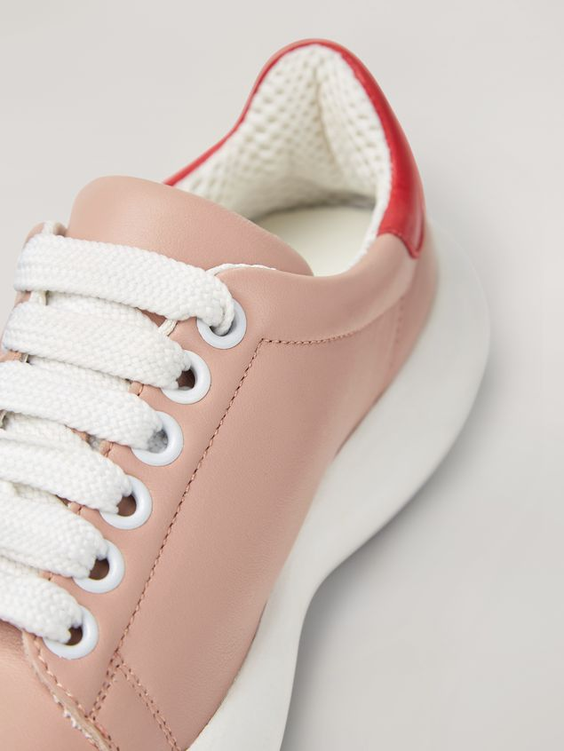 Marni BANANA Marni sneaker in leather pink and red Woman - 5