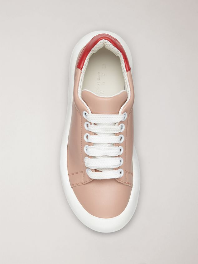 Marni BANANA Marni sneaker in leather pink and red Woman - 4
