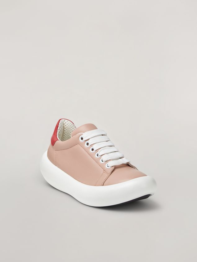 Marni BANANA Marni sneaker in leather pink and red Woman - 2