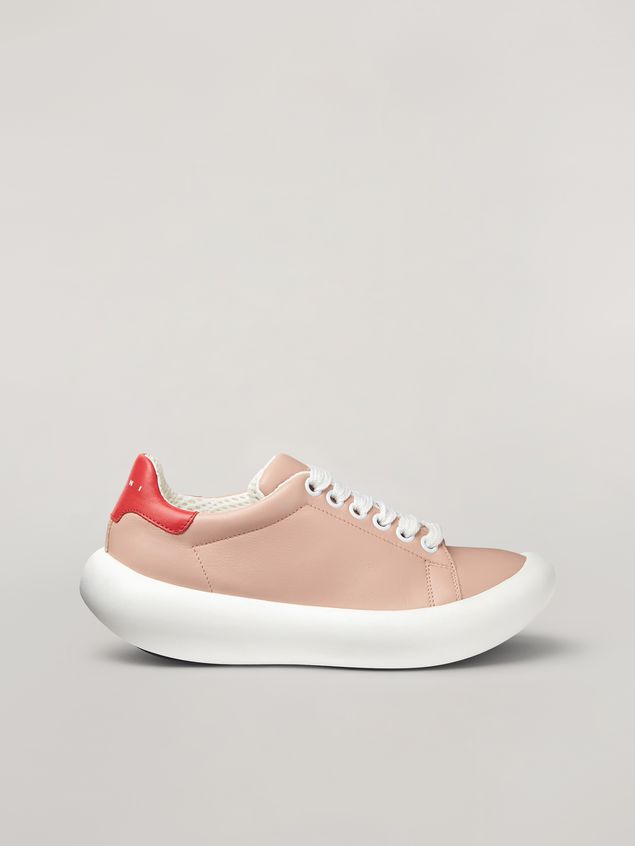 Marni BANANA Marni sneaker in leather pink and red Woman - 1