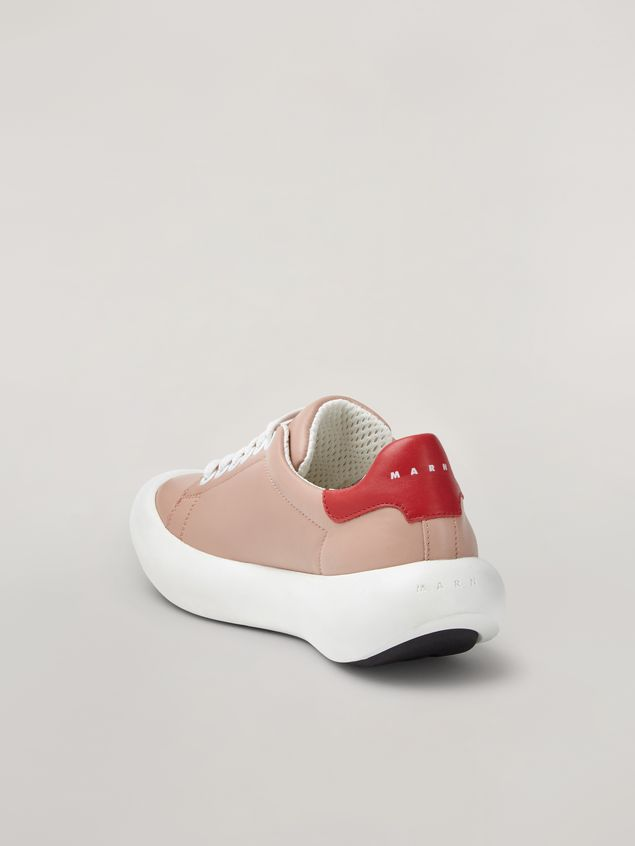 Marni BANANA Marni sneaker in leather pink and red Woman - 3