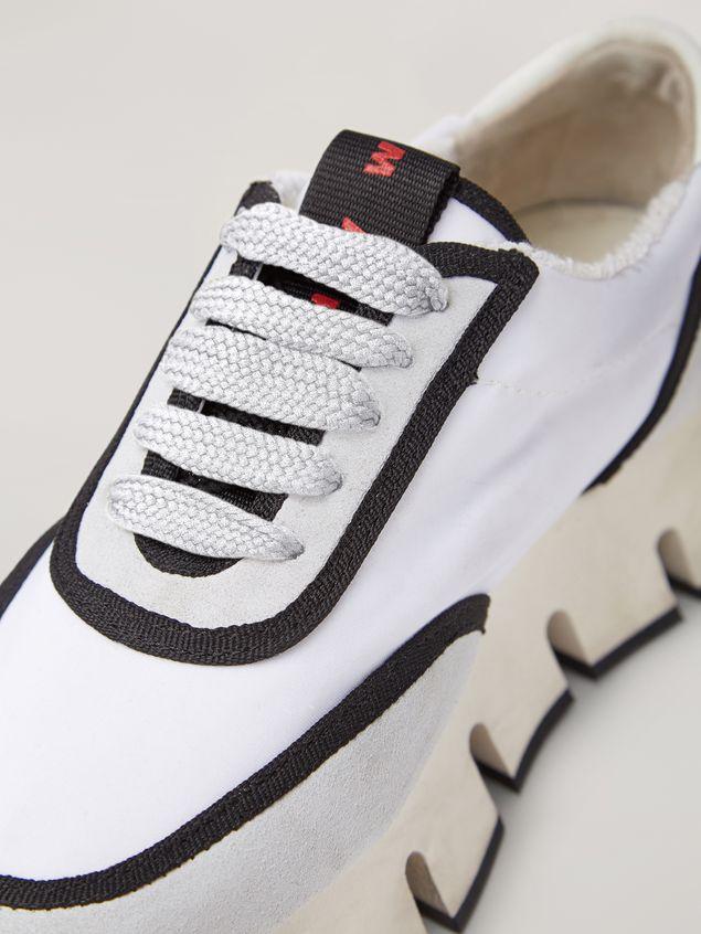 Marni BIG CUT Marni sneaker in scuba fabric white and black Woman - 5