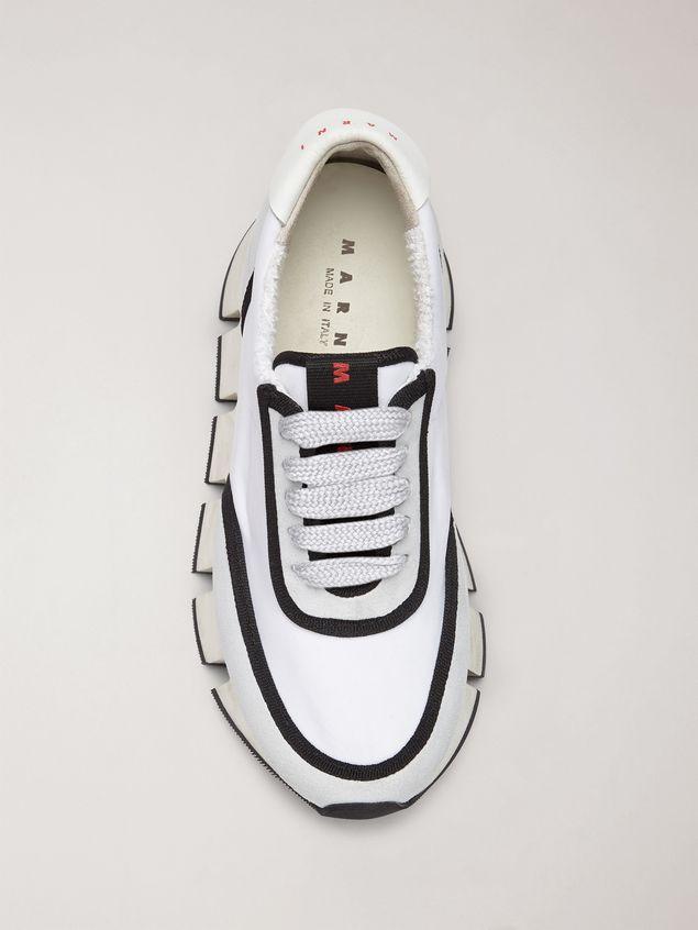 Marni BIG CUT Marni sneaker in scuba fabric white and black Woman - 4