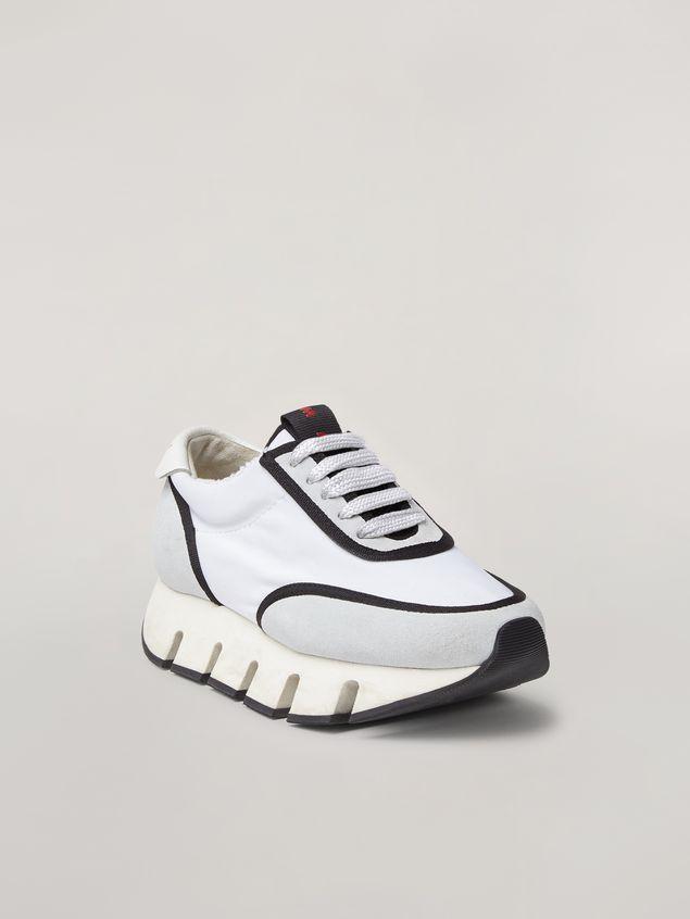 Marni BIG CUT Marni sneaker in scuba fabric white and black Woman - 2
