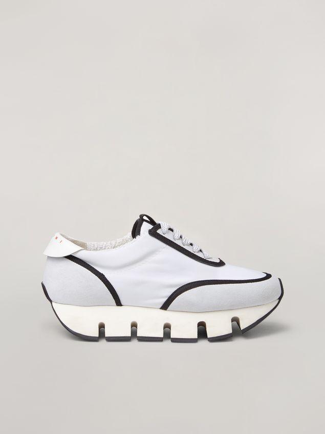Marni BIG CUT Marni sneaker in scuba fabric white and black Woman - 1