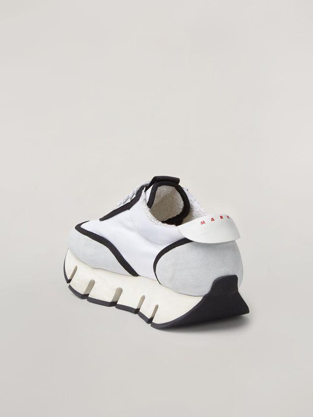 Marni BIG CUT Marni sneaker in scuba fabric white and black Woman - 3