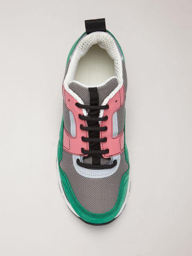 Marni Sneaker in techno fabric pink grey and green Woman - 4
