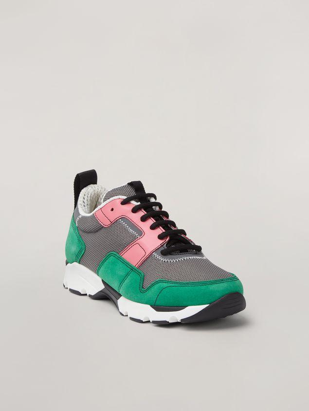 Marni Sneaker in techno fabric pink grey and green Woman - 2