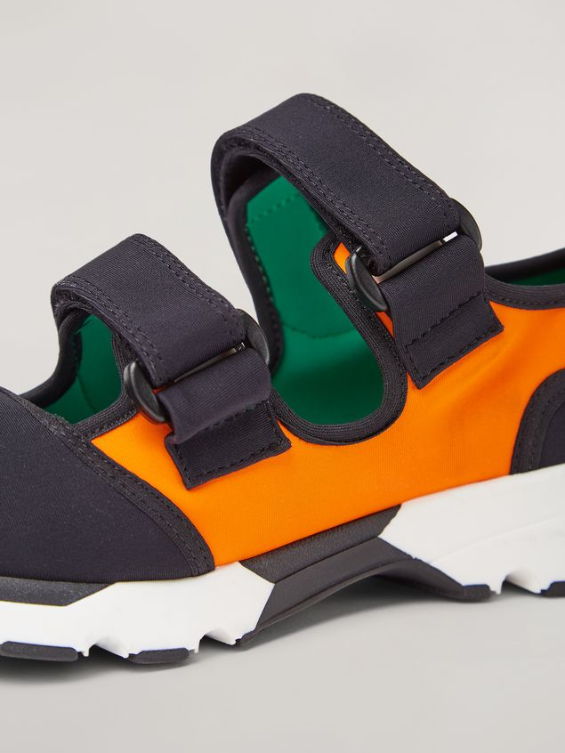 Marni Strap sneaker in techno fabric black and orange Woman - 5