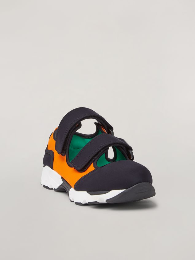 Marni Strap sneaker in techno fabric black and orange Woman - 2