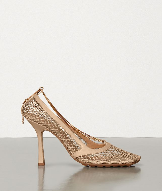 BOTTEGA VENETA STRETCH PUMPS IN MESH AND BERRY CALFSKIN Pump Woman fp