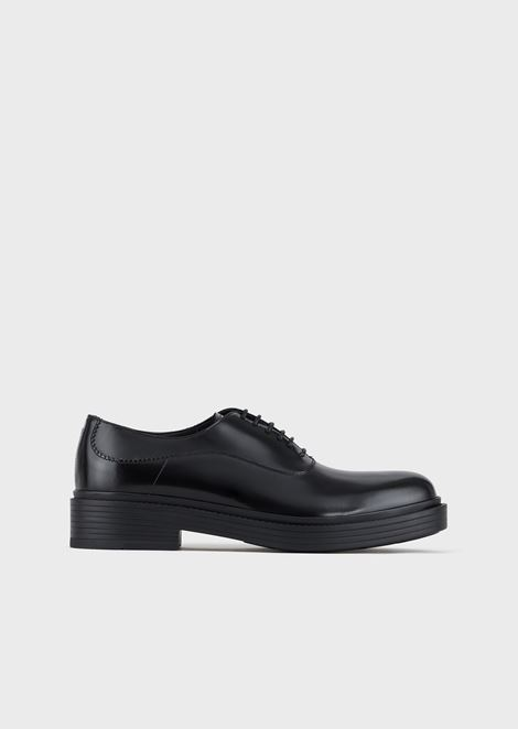 Vintage-style leather Oxford shoes