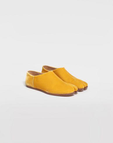 SHOES Tabi velvet slippers Ochre