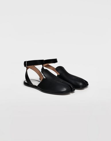 SHOES Tabi leather sandals Black