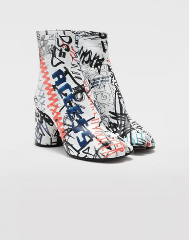SHOES Graffiti Tabi boots White