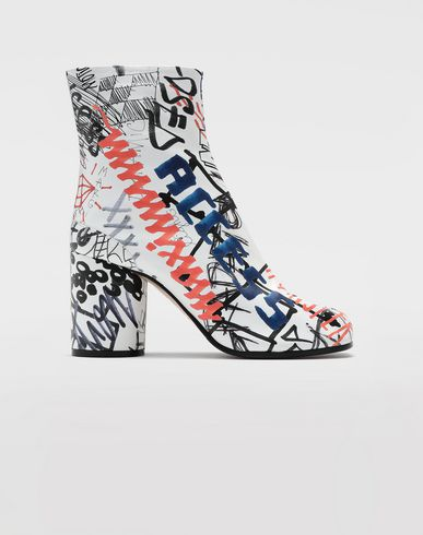 CHAUSSURES Bottines Tabi Graffiti Blanc