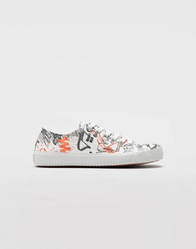 CHAUSSURES Sneakers Tabi Graffiti Blanc