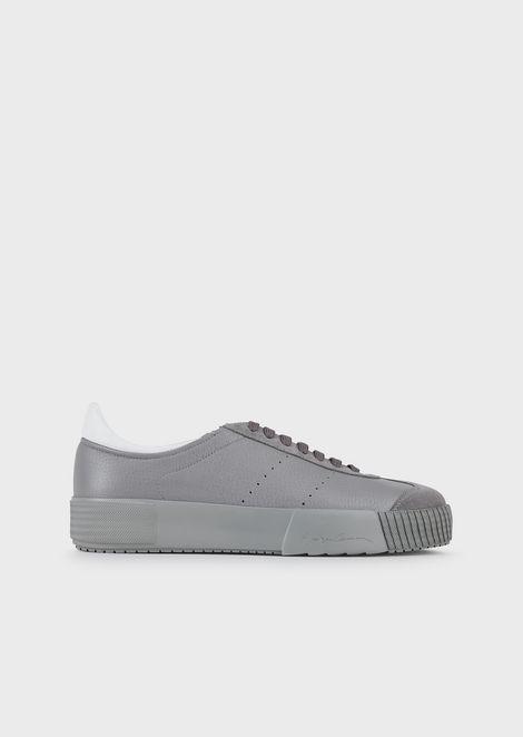 Suede sneakers with deerskin details