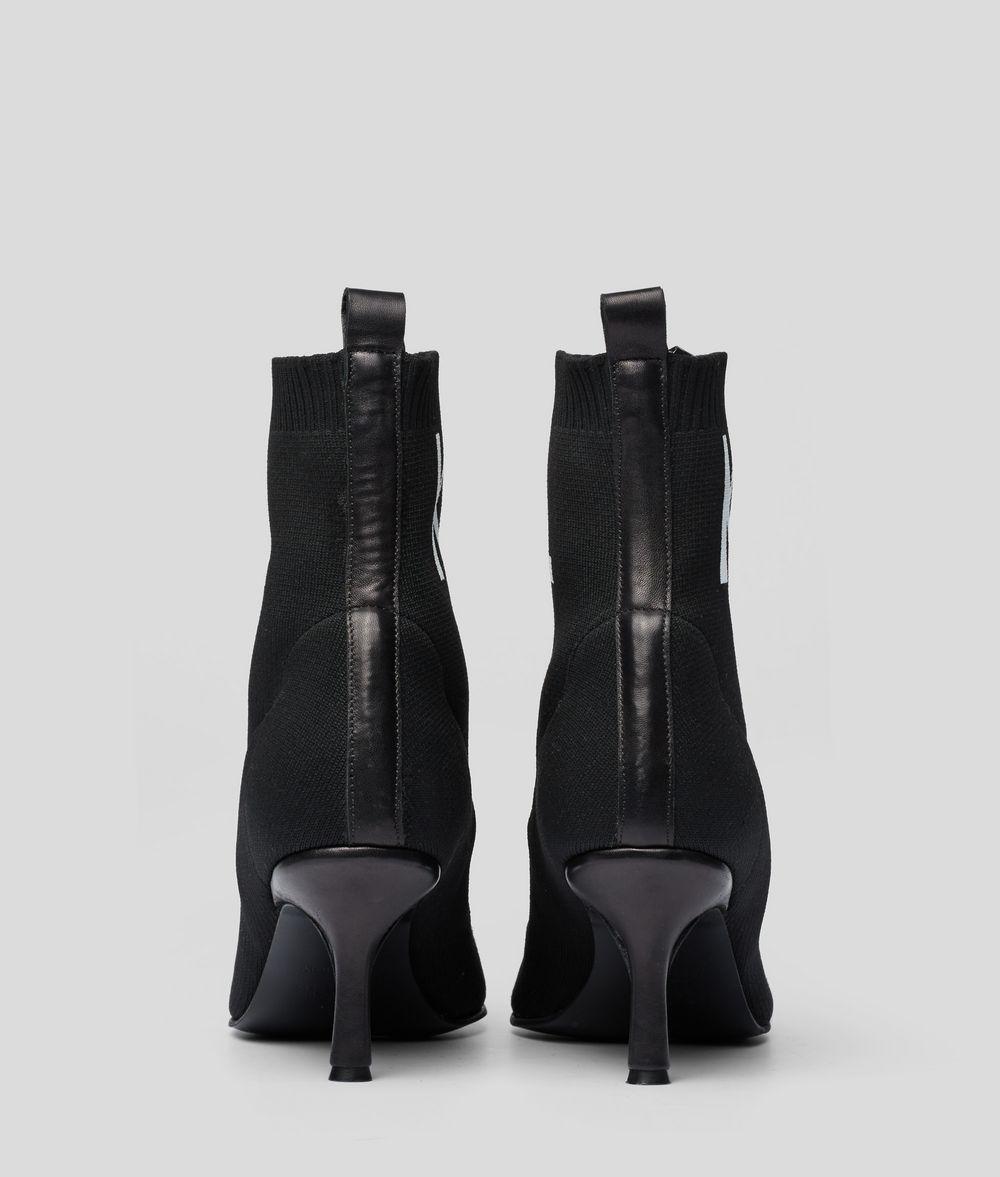 KARL LAGERFELD Pandora Knit Cuff Boot Boots Woman d