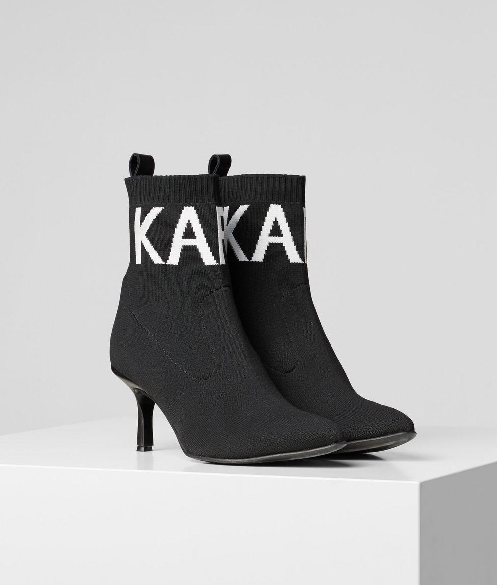 KARL LAGERFELD Pandora Knit Cuff Boot Boots Woman f