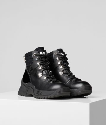 KARL LAGERFELD QUEST CROSS LACE-UP BOOTS