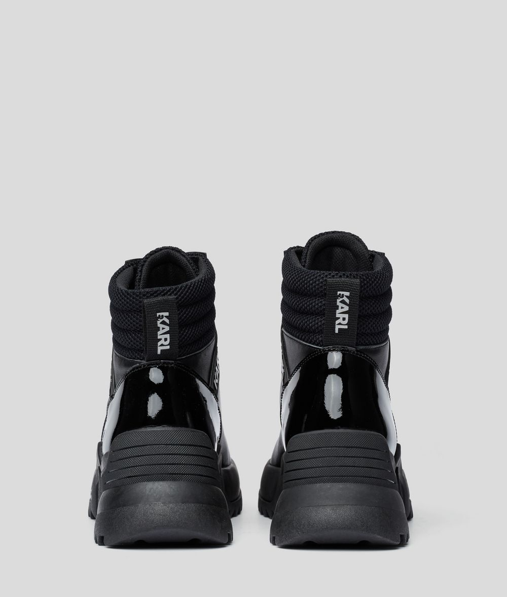 KARL LAGERFELD Quest Cross Lace-Up Boots Sneakers Woman d