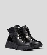 KARL LAGERFELD Quest Cross Lace-Up Boots 9_f