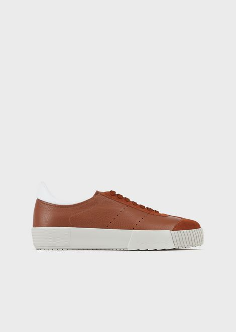 Suede sneakers with deerskin details