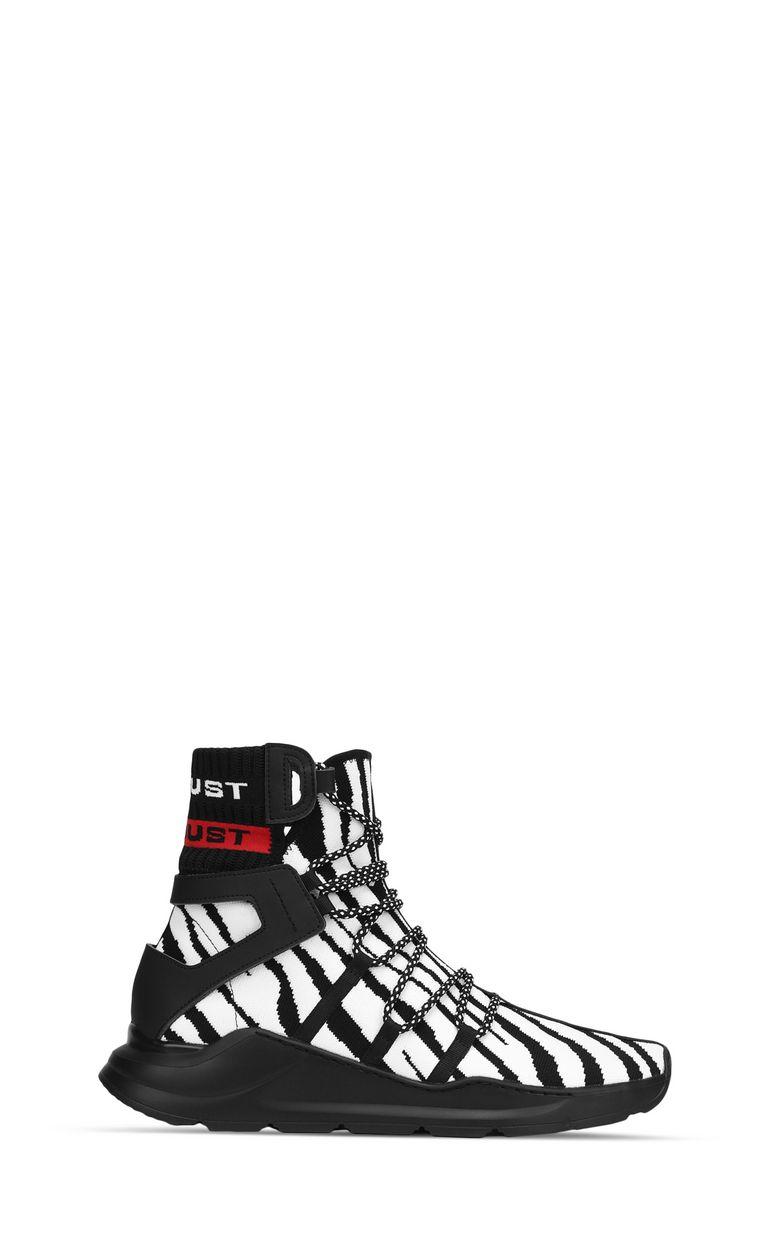 JUST CAVALLI Zebra-effect high-top sneaker Sneakers Man f