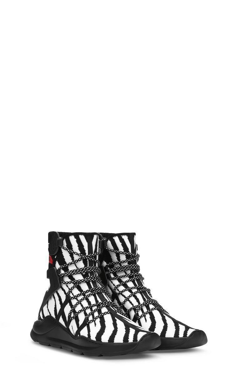 JUST CAVALLI Zebra-effect high-top sneaker Sneakers Man r
