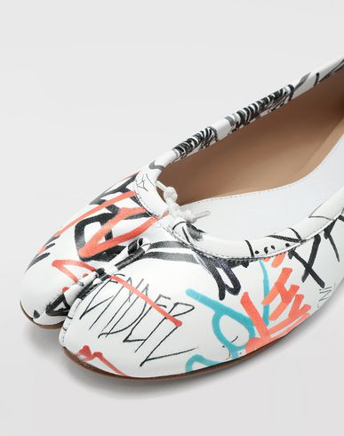 SHOES Graffiti Tabi ballerinas White