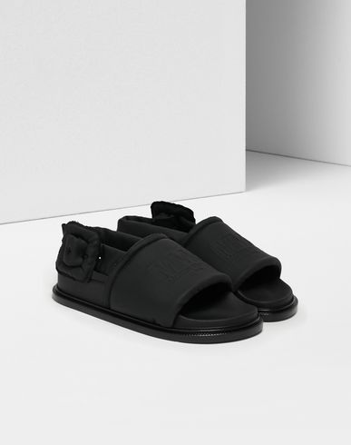 SHOES Padded sandals Black