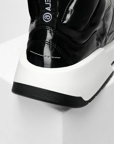 SHOES High-top padded runners Black