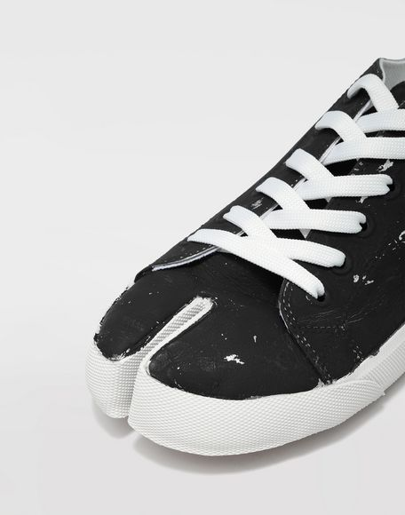 MAISON MARGIELA Tabi Craquelé leather sneakers Sneakers Tabi Man a