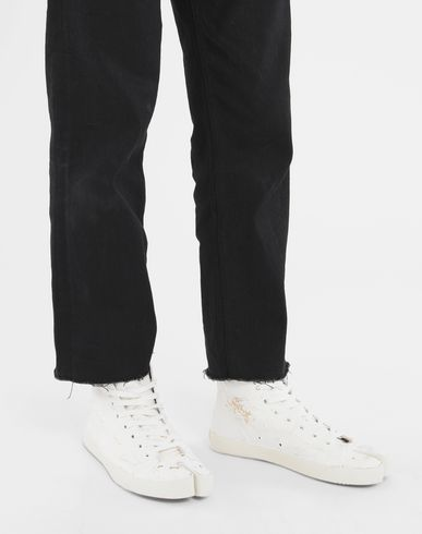 SHOES Tabi Craquelé high-top sneakers White